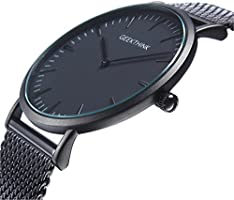 Watches Men Thin Minimalist Mesh Stainless Steel Waterproof Men's Quartz Wrist Watch