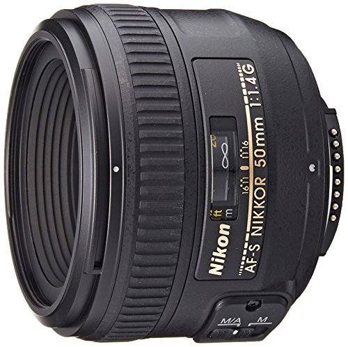 Nikon AF-S FX NIKKOR 50mm f/1.4G Lens with Auto Focus for Nikon DSLR Cameras (Best Prime Lenses For Nikon D810)