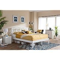 Baxton Studio Celine Queen Platform Bed in White