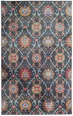 Mohawk Home Prismatic Bexley Gray Lattice Medallions Precision Printed Area Rug, 8 x10 , Gray