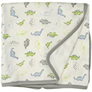 Little Me Baby Boys Blanket, White Print, One Size