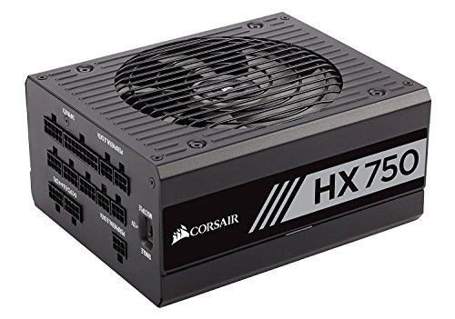 CORSAIR HX Series, HX750, 750 Watt, 80+ Platinum Certified, Fully Modular Power Supply