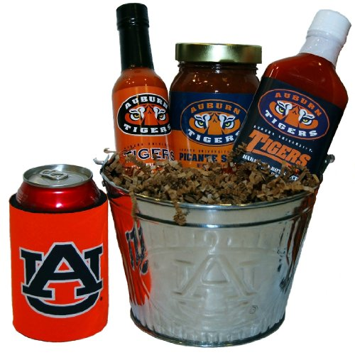 College Picante Salsa - The Auburn University Tailgate Grilling Gift Basket - Small