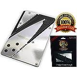 Holtzman's Credit Card Knife #1 Best Wallet Knife 100% (Silver Chrome Screws)