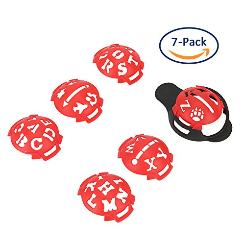 Echeer Golf Ball Marker, Golf Ball Line Makers Golf Ball Line Drawing Marking Alignment Putting Tool, Template Drawing Mark Alignment Putting Tool for Golfer Training Accessories (Pack of 7) by Echeer (Image #4)