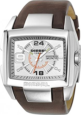 Amazon.com: Diesel Mens DZ1273 Stainless Steel and Brown Leather Watch: Diesel: Watches