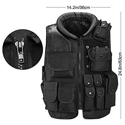 antWalking Outdoor Training Vest Live-Action Protective Security Training Vest ?Small?