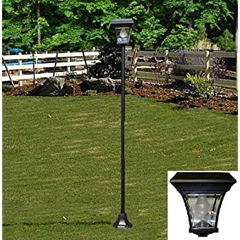 Amazon.com : Solar Lamp Post Light : Outdoor Post Lights