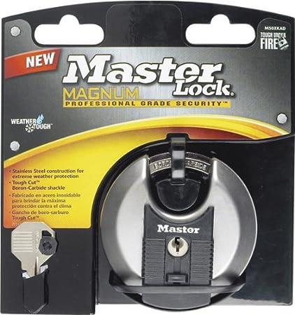 90832637b0f8 Master Lock Magnum Disc Lock Covered Steel Uses M1 Key Blank ...
