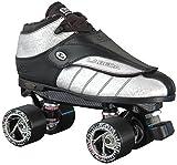Labeda New G-80 Silver Streak Leather Quad Speed Roller Derby Jam Skates (04)