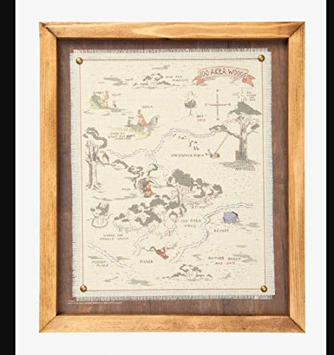 Disney Winnie The Pooh Hundred Acre Wood Framed Map