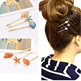 Beike conch jewelry retro word folder hairpin side folder starfish hair jewelry hairpin bangs clip clip Korea for women girl lady