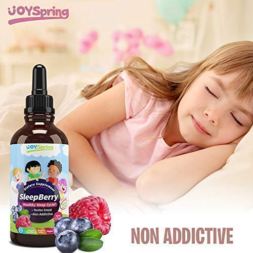 SleepBerry Liquid Melatonin for Kids - Natural Sleep Aid with Elderberry and Vitamin D - Boost Immune System While They Sleep by JoySpring (Image #8)