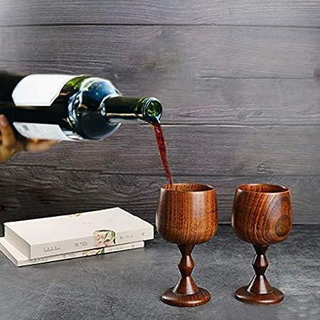 Cerveza de vino de madera saludable Tazas de madera sólida premium premium elegante para café vintage Leche de té Agua