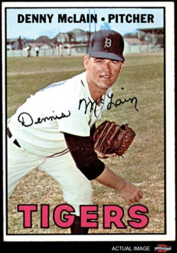 1967 Topps # 420 Denny McLain Detroit Tigers (Baseball Card) Dean's Cards 4 - VG/EX Tigers