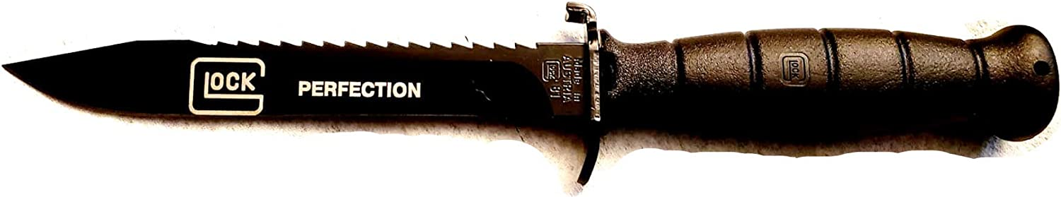 Black Glock 81 Field Knife with Root Saw ENGRAVED with Glock Logo