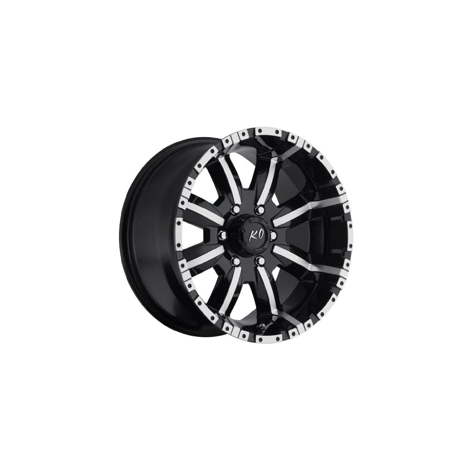 17 inch 17x9 Rev 808MB black machined wheel rim; 6x135 bolt pattern with a +12 offset. Part Number 808MB 7906312