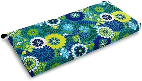 Blazing Needles Patterned Outdoor Spun Polyester Loveseat Cushion