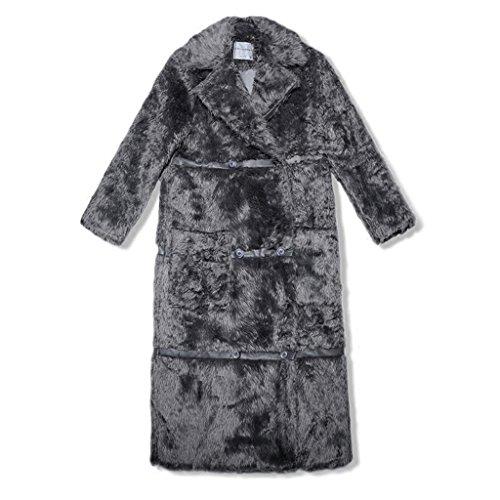JIN cappotto donne YZMNDY petto e doppio PING® cappotto europee dimensioni moda americane lungo femminile addensato Xl ginocchio inverno dIwKwSEq