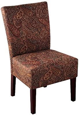 Amazon Com Powell Spider Web Back Accent Chair Kitchen