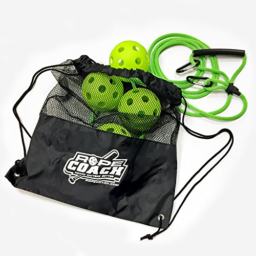 Rope Coach - Softball Swing Trainer with Drawstring Backpack Bag by Rope Coach
