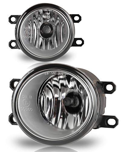 (AUTOFREE OEM Style Fog Light for TOYOTA 09-12 Corllla/08-10 Highlander/09-12 Venza/07-12 Yaris   Lexus 08-11 LX570/ 2010 RX350, 1 Pair with Bulbs H11 12V55W (Clear Lens))