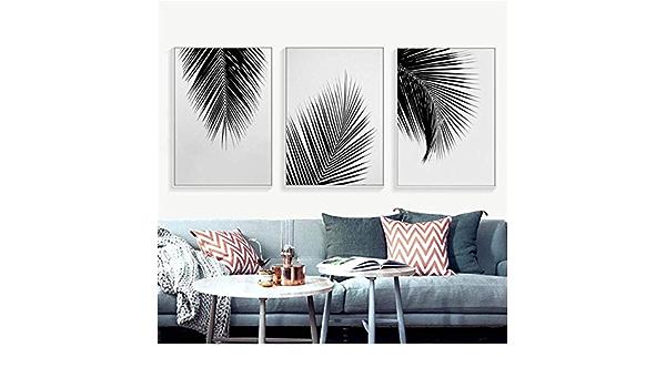 70 cm No Frame Hoja de pl/átano Arte de la pared Lienzo Carteles Impresiones Nordic Tropical Bot/ánico Hojas de palma Pintura Cuadro de la pared Home Room Decoration 50
