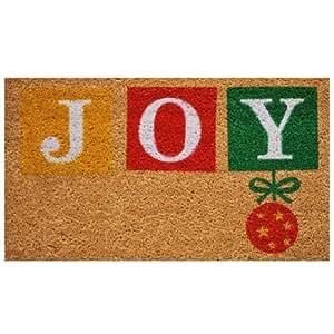 """Joy 17""""x29"""" Coir with Vinyl Backing Doormat"""