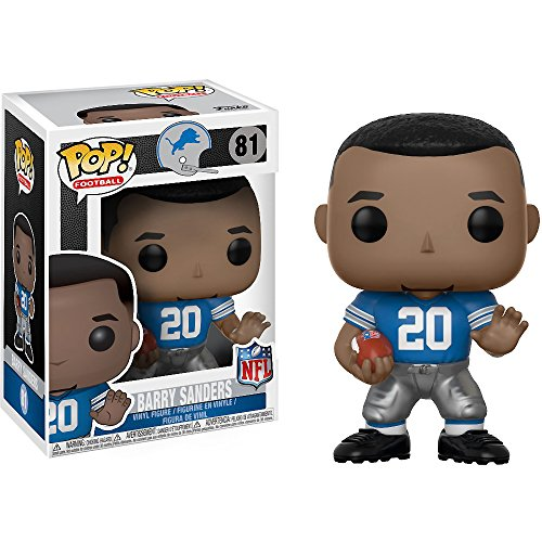 Funko Barry Sanders [Lions Home]: NFL Legends x POP! Football Vinyl Figure & 1 PET Plastic Graphical Protector Bundle [#081 / 20196 - B]