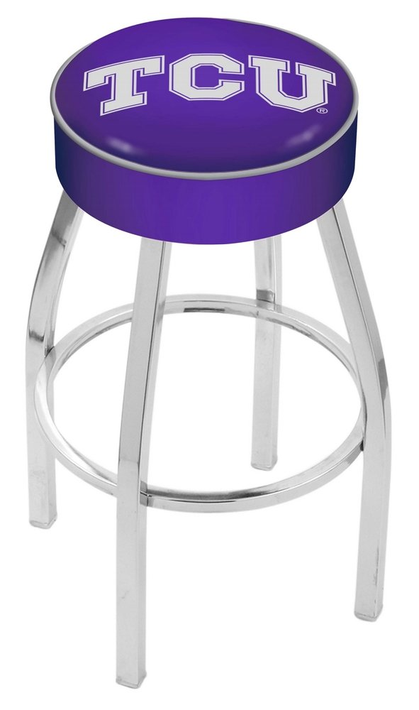 Holland Bar Stool L8C1 Texas Christian University Swivel Counter Stool, 25'' by Holland Bar Stool Co.