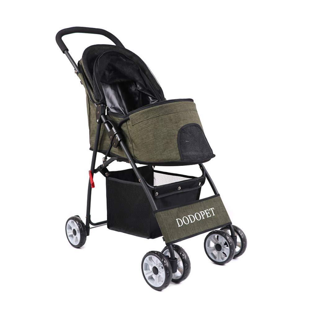 Bronze Dog Stroller,4 Wheels Pet Stroller Pet Jogging Stroller Dog Cat Cage Travel Lite Foldable Carrier Strolling Cart,Bronze