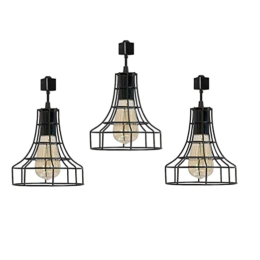 buy online 82e51 680d0 Industrial H-Type Track Pendant Lighting Commercial Track Lighting- Rustic  Adjustable Industrial Track Light- Kitchen Track Lighting,Set of 3