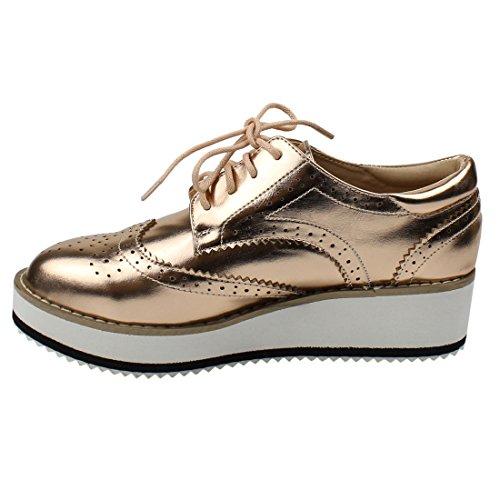 f52ecfb8a60d Beston DE19 Women s Platform Wingtips Wedge Heel Oxford Shoes - Import It  All