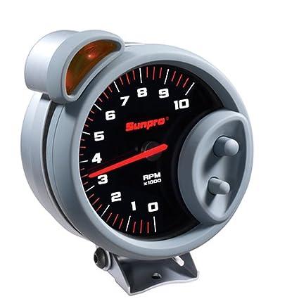 amazon com: sunpro cp7900 sport super tachometer - black dial: automotive