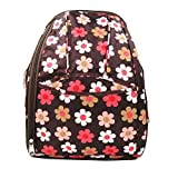 FAMI Fashion Baby Diaper Backpack Tote Bags Large Capacity Baby Nappy Bag Mummy Bag Send Bottle Bag and Coin Purse (Brown)