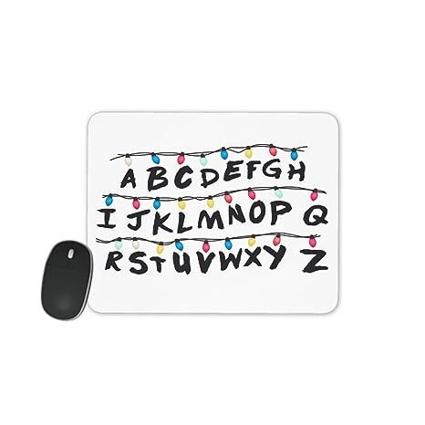 MOBILINNOV Alfombra de ratón Alfabeto Guirnalda Inspirado por ...