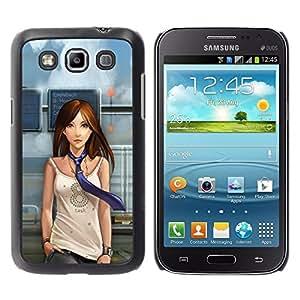 TopCaseStore / la caja del caucho duro de la cubierta de protección de la piel - Cute Beautiful Anime Girl - Samsung Galaxy Win I8550 I8552 Grand Quattro