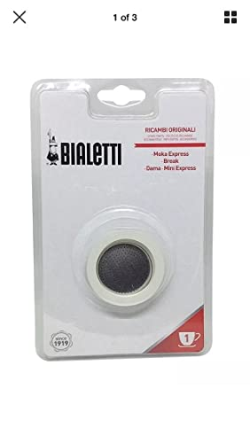 Bialetti 3gaskets + 1Plate 1Cup