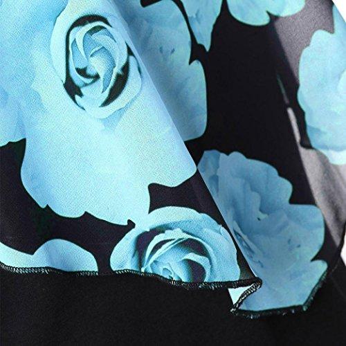 Cher Aimee7 Robe Vetements Court Sans Manche Fille Bleu Mini Ete Retro Vintage Cocktail Pas De Décontractée Chic Femme Soirée Mode Grande Taille Ciel gC4Cqnxwtr