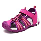 DREAM PAIRS Little Kid 170813-K Fuchsia LT.Grey Outdoor Summer Sandals Size 1 M US Little Kid