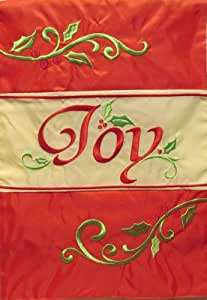 Joy ricamato accenti 30,5x 45,7cm giardino dimensioni decorative bandiera