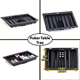 Poker Table Plastic Dealer Chip Tray with Card Slots for Balckjack and Casino Table by Straight Poker Supplies