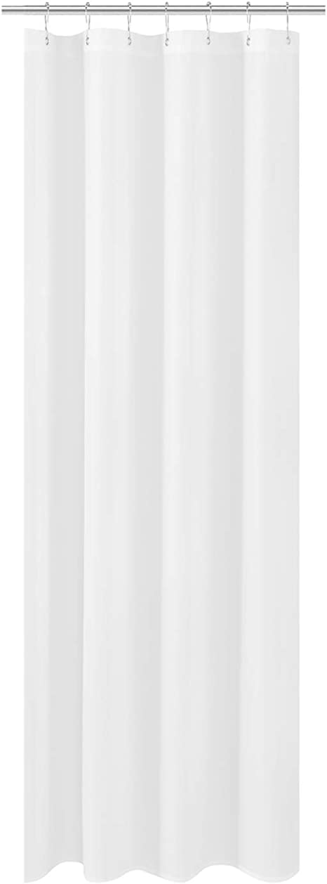 Mildew Resistant Small Stall Shower Curtain Liner Narrow Size 48 W x 72 H Inch