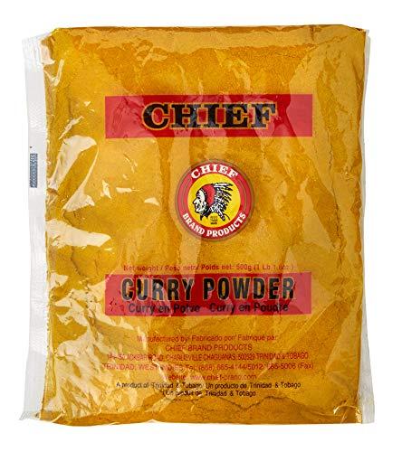 CHIEF CURRY POWDER 500G, 17.5 OZ MADE IN TRINIDAD & TOBAGO