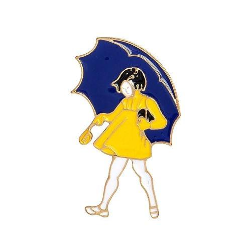 auvwxyz. Broches Paraguas niña Broche de aleación de Dibujos ...