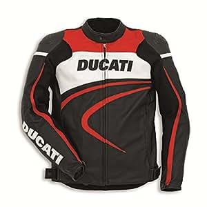 Amazon.com: Ducati Dainese Deporte C2 Chaqueta Negro Perf ...