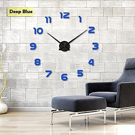 Moderne Rouge Papillons Large À faire soi-même Horloge Murale Décor Maison Salon Chambre à coucher