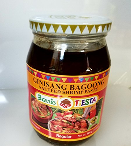 Barrio Fiesta Ginisang Bagoong Sauted Shrimp Paste Regular Pack of Two 17 Oz Per Jar by Barrio Fiesta