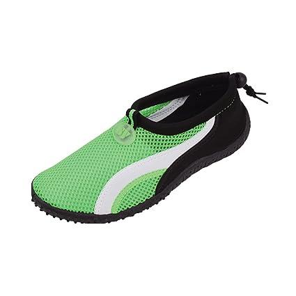 Aquatic Pool Beach/Surf Adjustable Slip-On Shoes Women's 7 Green