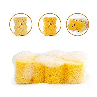 4 Pcs Baby Bathing Sponge Sponge for Children Over 3 Months Natural Sponge Baby Kids Baby Toddler Bath Sponge Baby Care Kids Towel